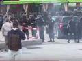 В центре Киева украинские и польские фанаты устроили массовую драку