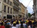 Украинские болельщики провели марш перед матчем с Польшей