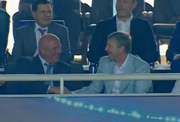 Президенты Черноморца и Шахтера вместе радуются голу