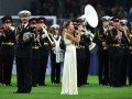 Дочь украинского вратаря исполнила гимн России во время открытия стадиона в Москве