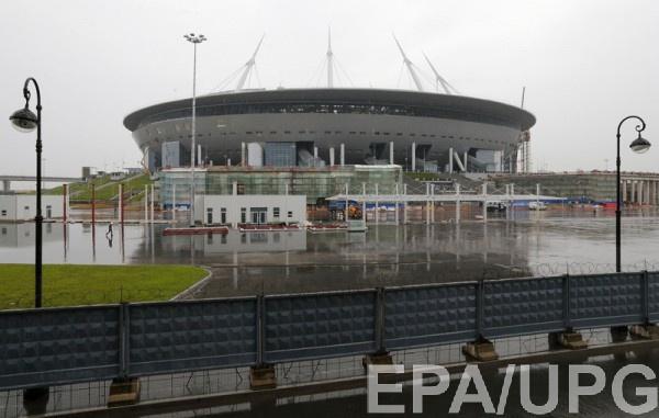 Зенит-Арена страдает от потопов