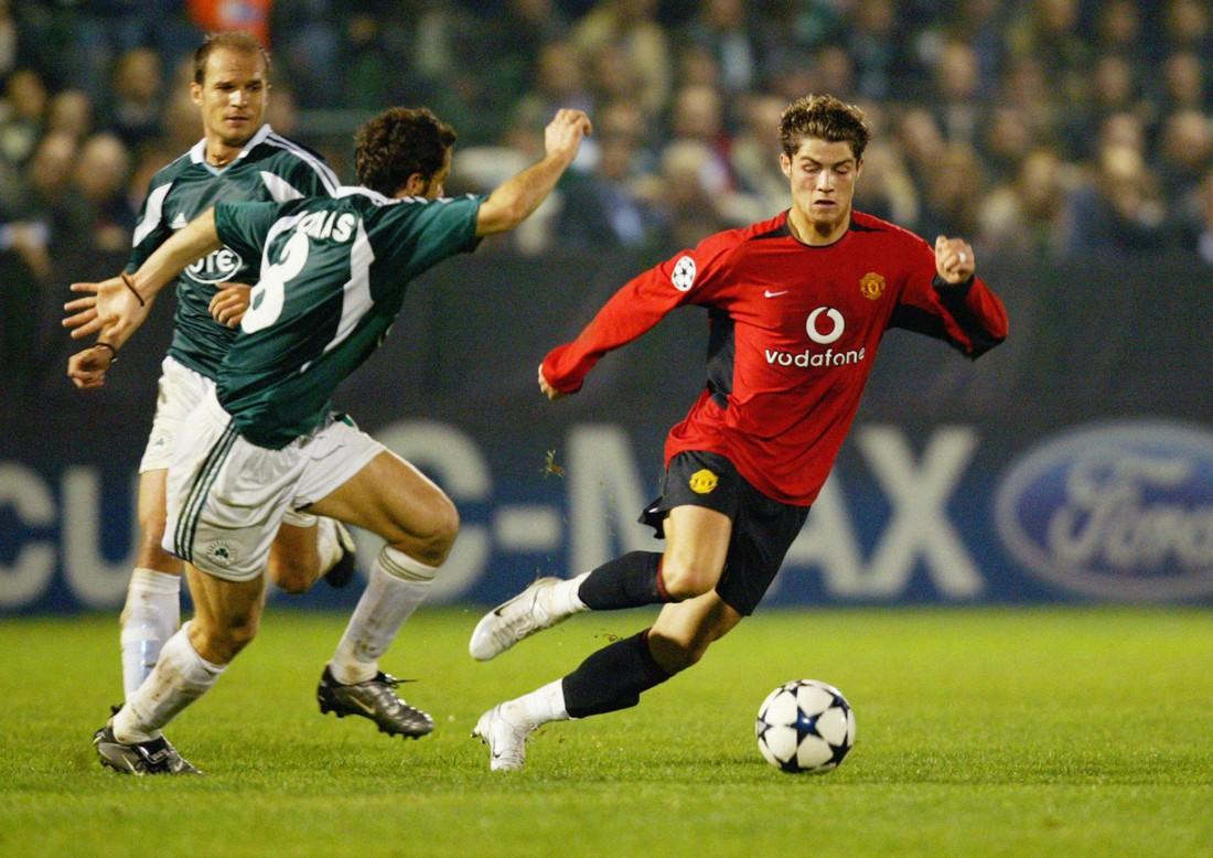 Роналду в составе Манчестер Юнайтед