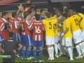 Терпение лопнуло: Бразильцы и парагвайцы устроили драку в четвертьфинале Кубка Америки