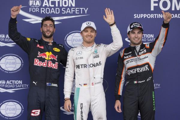 Подиум квалификации Гран-при Европы в Баку