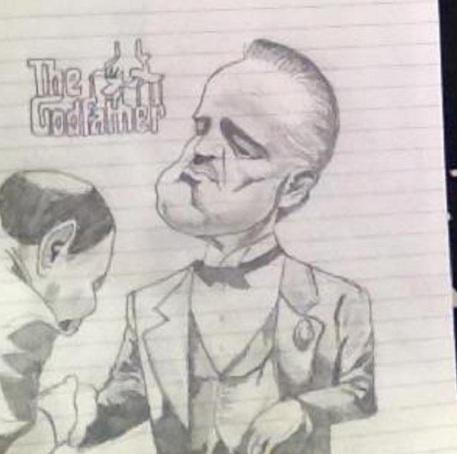 Марлон Брандо в роли Вито Корлеоне (Крестный отец)