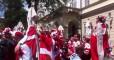 Красное нашествие. Датские фанаты оккупировали центр Львова