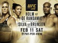 Взвешивание UFC 208: Холм тяжелее де Рандами, Силва легче Брансона