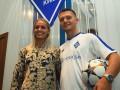 Стройная блондинка, которая будет болеть за новичка Динамо на трибунах НСК Олимпийский