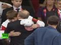 Президентский поцелуй. Путин в Лондоне не сдерживает эмоций