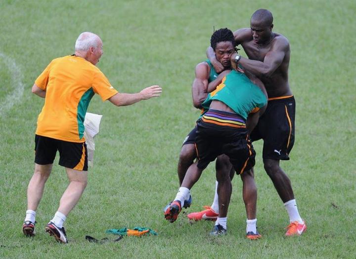 Игроки сборной Кот-д'Ивуара подрались на тренировке