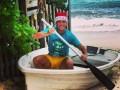 Велозу в шапке Санта Клауса поздравил всех с Рождеством (ФОТО)