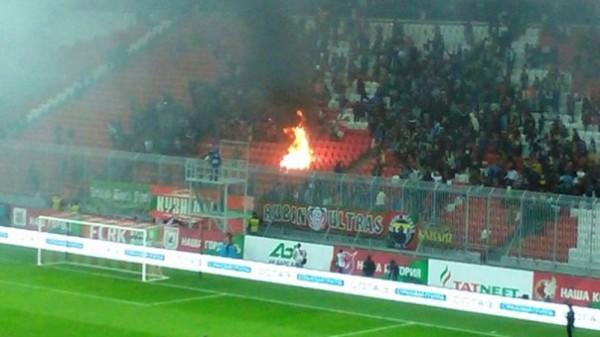 Пожар на стадионе Рубина