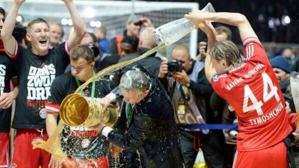 Тимощук радуется последнему трофею в Баварии