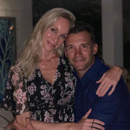 Андрей Шевченко и Кристен Пазик
