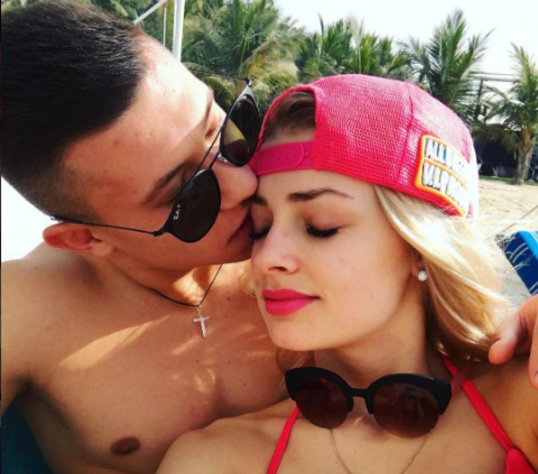 Андрей Борячук с девушкой