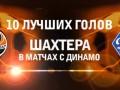 Видео лучших голов Шахтера в ворота Динамо Киев