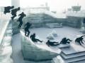 Замораживающее видео трюков фрираннера Джейсона Пола