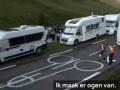 Сотрудники Тур де Франс оригинально изменили рисунок пениса на асфальте