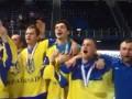 Сборная Украины по хоккею спела гимн после победы на Чемпионате мира