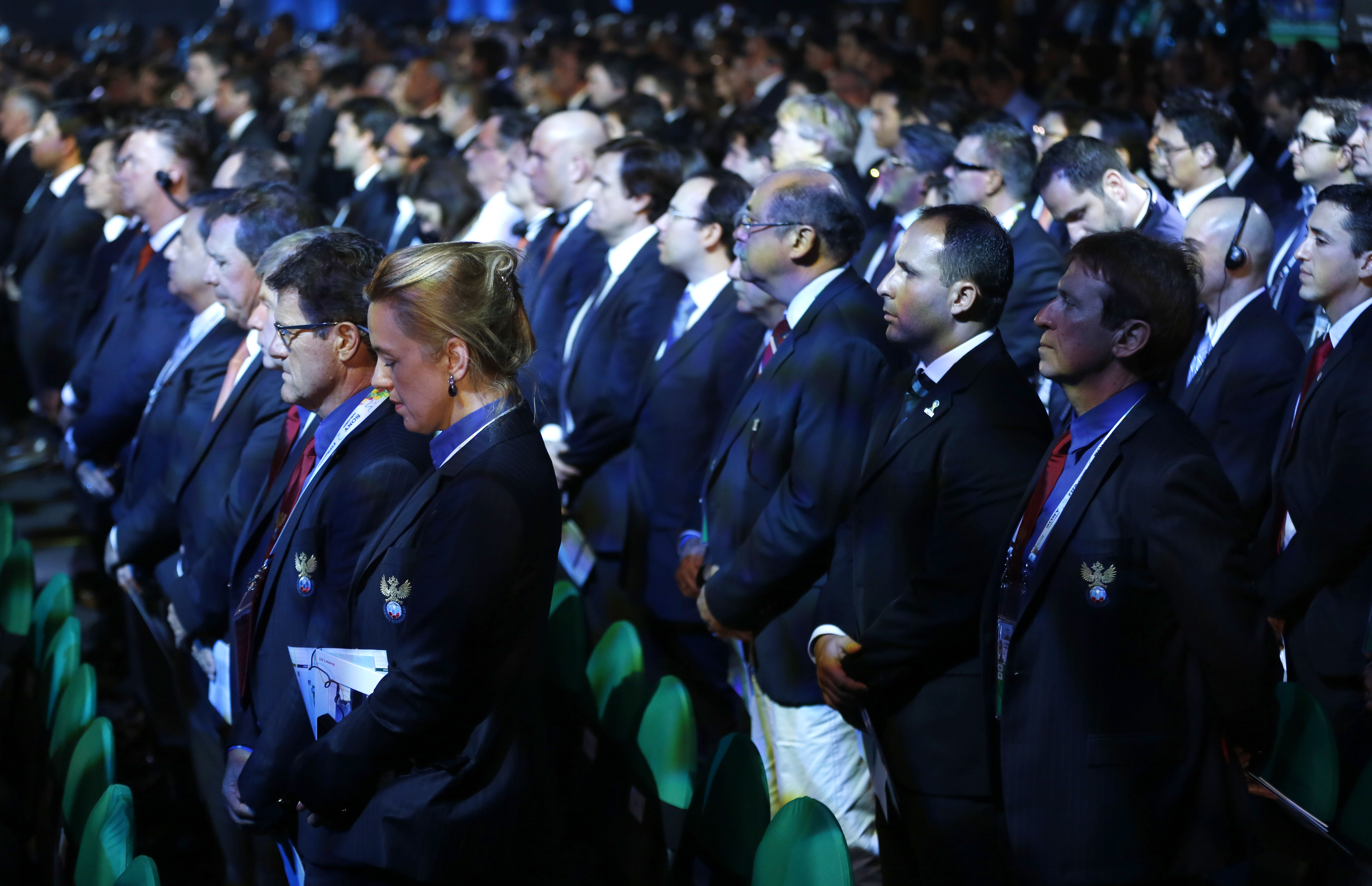 Минута молчания на церемонии жеребьевки