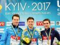 Украина вышла на первое место в медальном зачете ЧЕ по прыжкам в воду