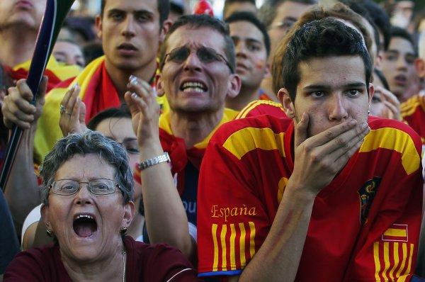 Испанские болельщики огорчены очередным упущенным моментом в исполнении победителя Лиги Чемпионов