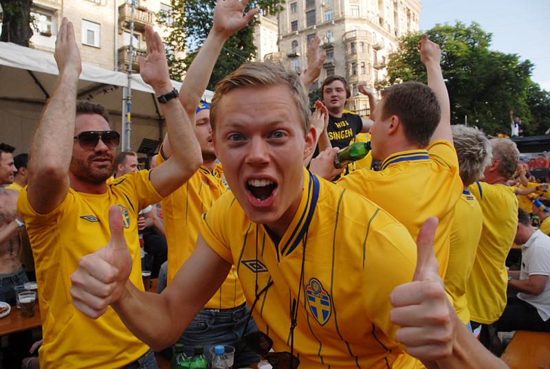 Шведским болельщикам очень понравился Киев