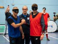 Слепой вызов: Экс-капитаны Ливерпуля и Эвертона сыграли в футбол вслепую