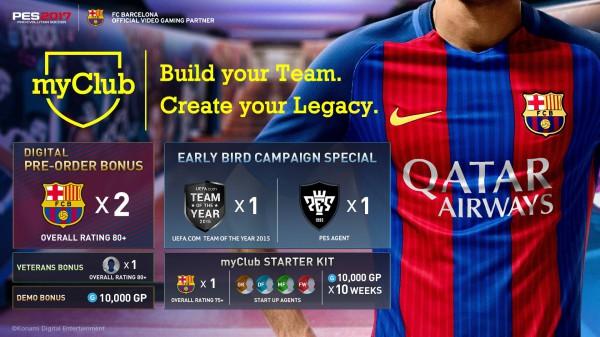 myClub - аналог Ultimate Team в PES