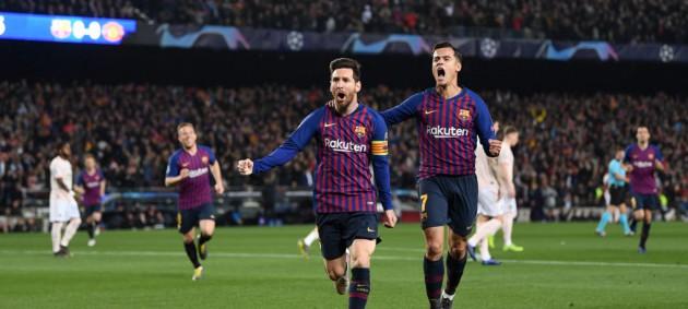 Барселона вышла в полуфинал Лиги чемпионов