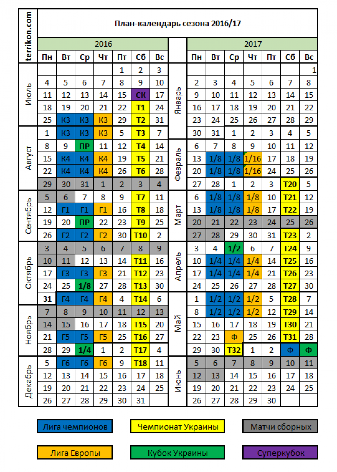 Календарь чу по футболу 1 лига