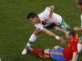 Испанская фиеста: Вилья добывает победу над Португалией