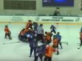Хоккеисты из Украины и Беларуси устроили массовую драку на льду