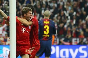 Мюллер дважды отправил мяч в ворота Барселоны