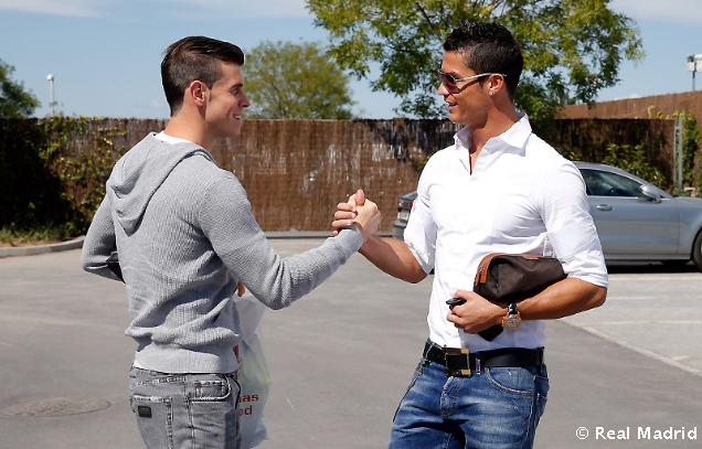 Бэйл и Роналду встретились на базе Реала