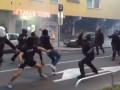 Фанаты Марибора устроили массовую драку с полицией перед матчем Лиги чемпионов