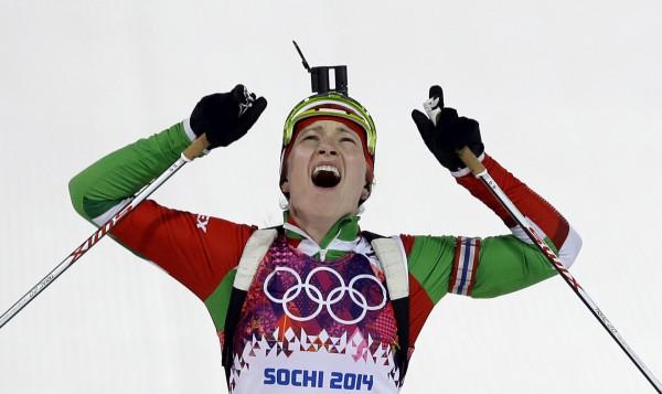 Дарья Домрачева выиграла третью золотую медаль