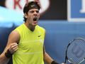 Australian Open: Дель Потро не без труда выходит в четвертый раунд