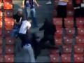 Дерби в Цюрихе. Швейцарские фанаты устроили массовую драку во время матча