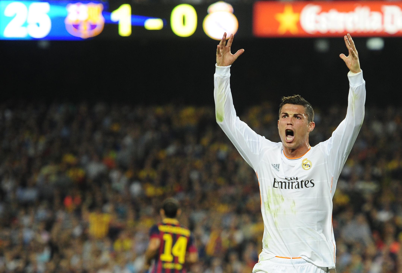 Криштиану Роналду не понравилось судейство в матче против Барселоны