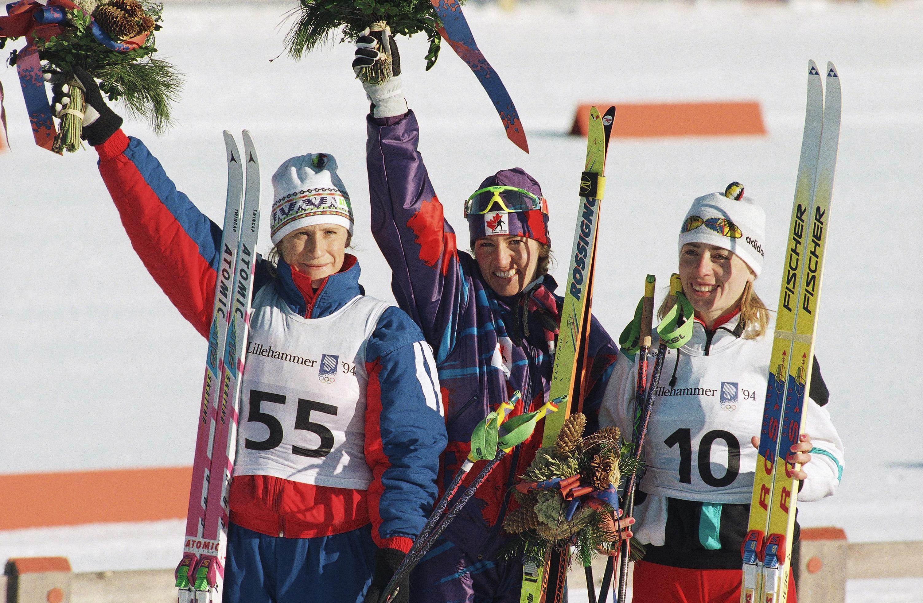 Валентина Цербе (справа) завоевала для Украины первую олимпийскую медаль