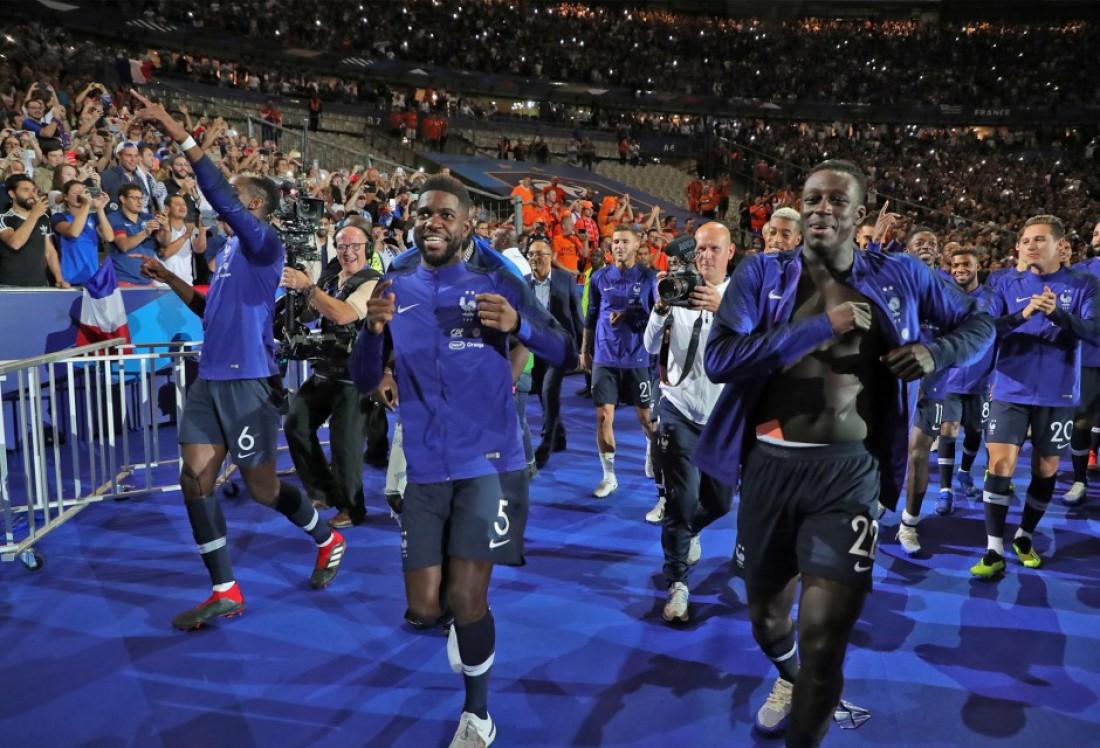 Сборная Франции устроила веселье на Стад Де Франс