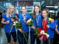 Женская сборная Украины по боксу c медалями ЧЕ вернулась в Киев