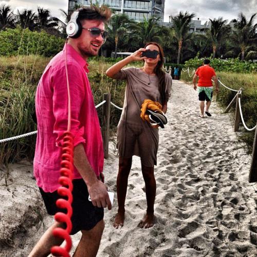 Милевский отдыхает в Майами