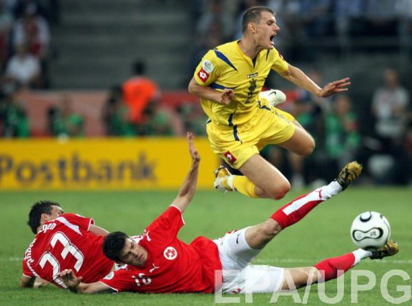 Андрей Несмачный в матче со Швейцарией на ЧМ-2006
