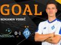 Фееричный гол Вербича в ворота Астаны, открывший счет в матче Лиги Европы