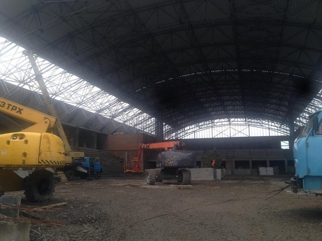 Строительство Дворца спорта