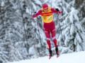 Российский лыжник ударил соперника палкой и сбил с ног на финише гонки