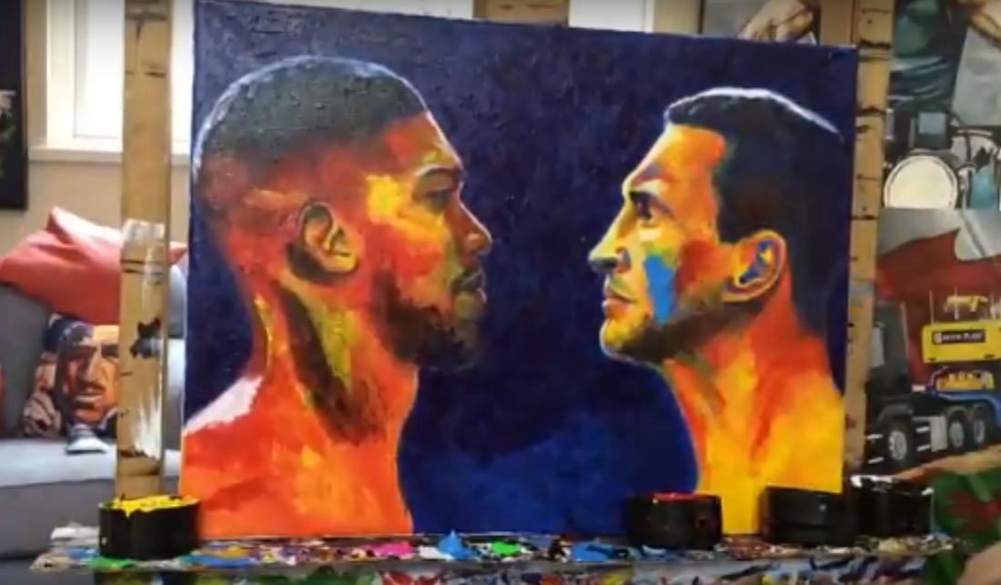 Картина с Кличко и Джошуа будет на аукционе