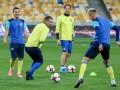 Видео с открытой тренировки сборной Украины под руководством Шевченко